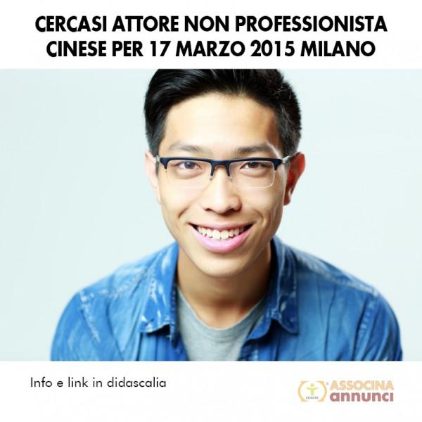 Cercasi Attore non professionista Milano Marzo 2015