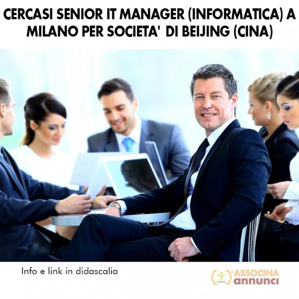 Ricerca Senior IT Manager Milano