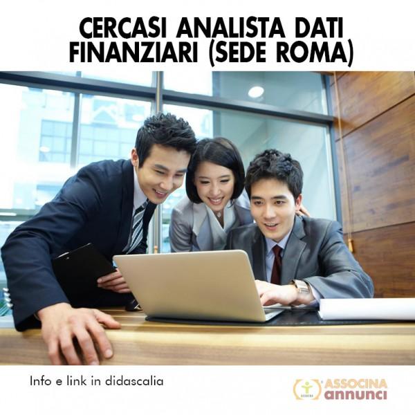 Cercasi Analista Dati Finanziari (sede Roma)