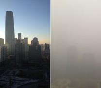 Foto dell'inquinamento atmosferico a Beijing