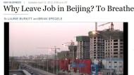 Perché lasciare il lavoro a Beijing? Per respirare