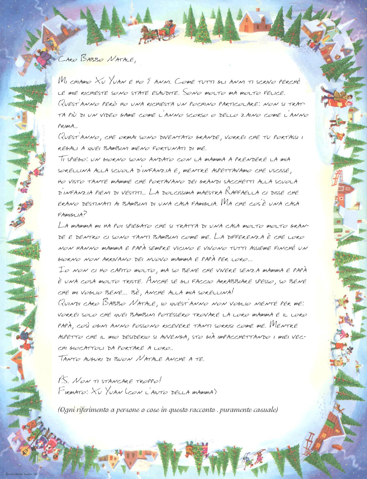 Le Lettere Di Babbo Natale.Lettera Risposta Babbo Natale